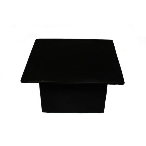 Square Black Leather Table-0