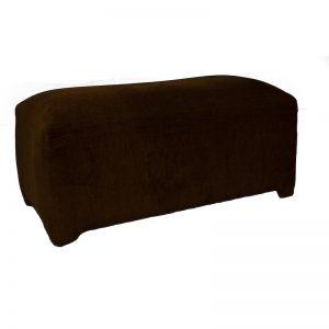 3 Seater Black Rectangular Ottoman
