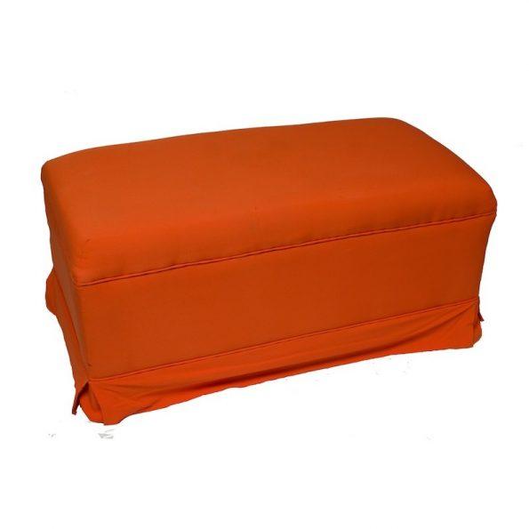 3 Seater Orange Ottoman-0