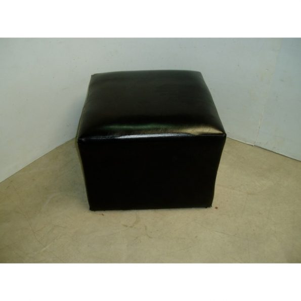 Square Black Ottoman-0