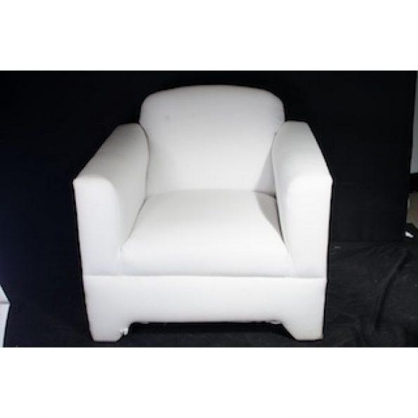 White Single Chair w/ Arms-0