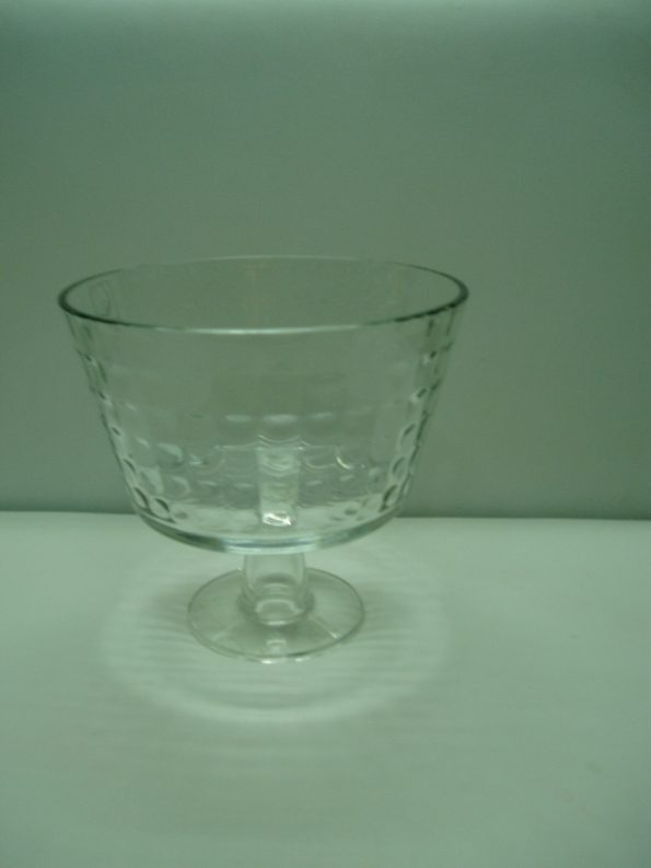 Clear Trifle Dish With Stem (Small)-0