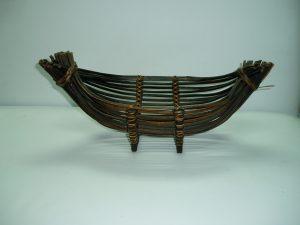 Wicker Boat Bread Basket (Large)-0