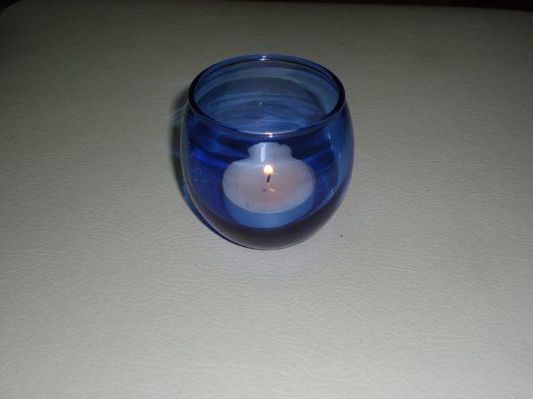 Light Blue Tealite Candle Holder-0