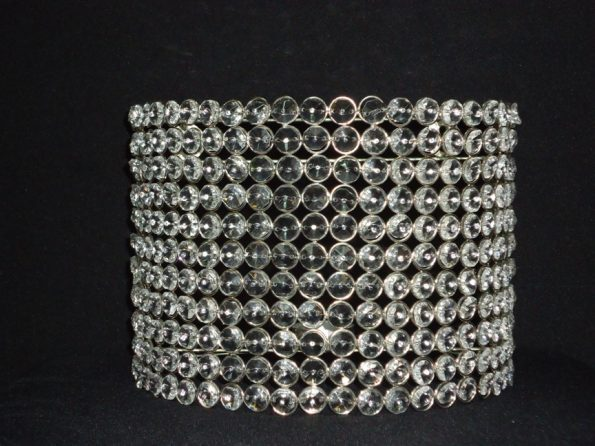 Crystal Beaded Wall Scons Candle Holder-0