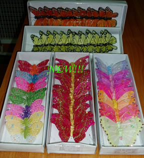 Multi Coloured Decorative Butterflies (Large)-0