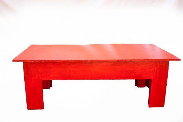 Red Rectangular Table-0