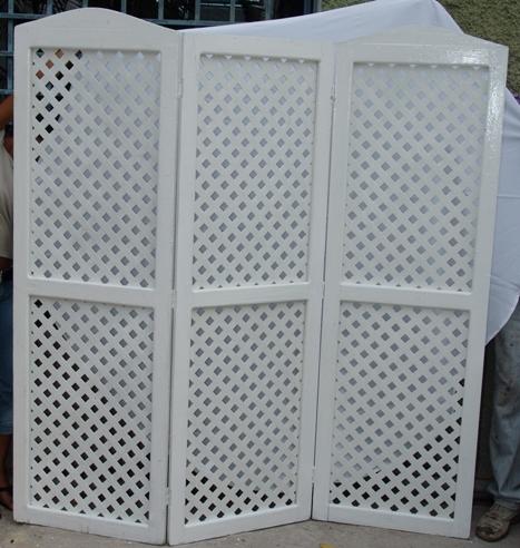 Solid Folding Lattice Screen (White)-0