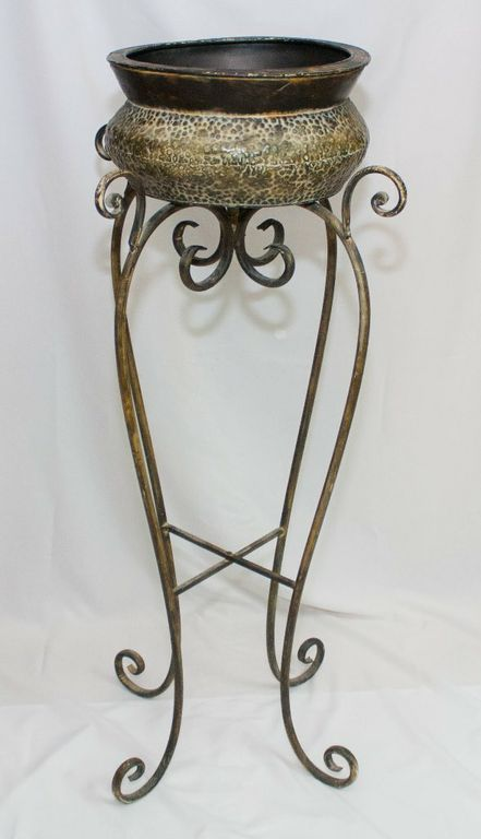 Rustic Flower Pot And Stand (Large)-0
