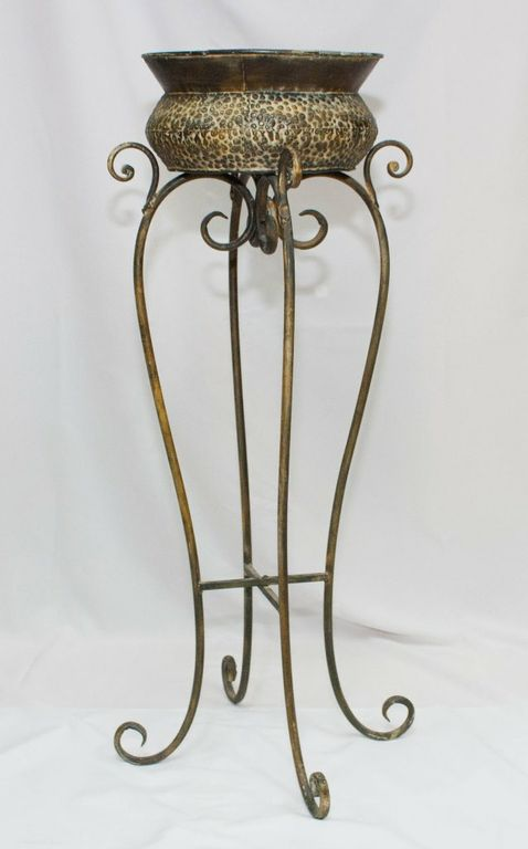 Rustic Flower Pot And Stand (Small)-0