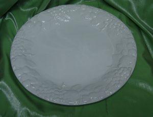 Ceramic White Round Platter With Grape Patterns-0