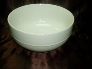 Ceramic White Round Salad Bowl (Medium)-0