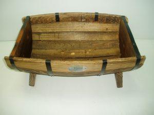 Half Wooden Barrel Salad Bowl (Large)-0