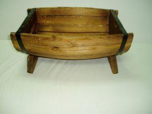 Half Wooden Barrel salad Bowl (Medium)-0