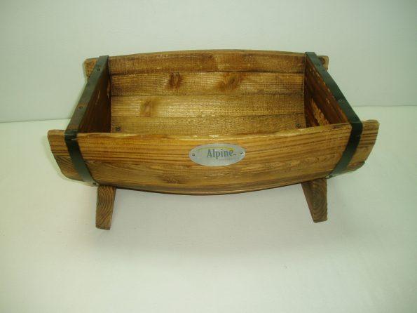 Half Wooden Barrel Salad Bowl (Small)-0