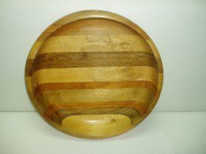 Mahoe Wooden Salad Bowl (Large)-0