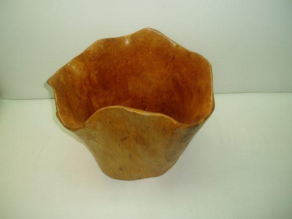 Wooden Brown Large Salad Bowl-0