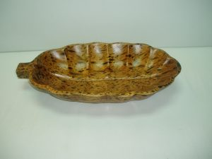 Spotted Leaf - Shaped Wooden Sauce Bowl-0