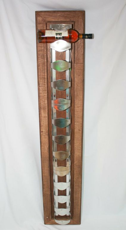 Wine Rack With Wooden Back-0