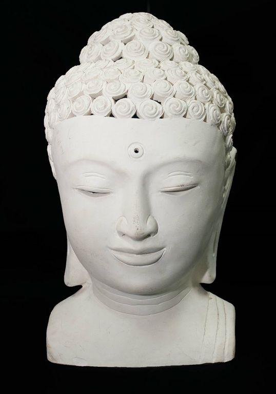 White Buddha Head Side Lights-0