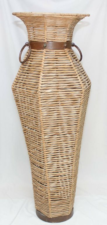 African Bamboo Urn (Large)-0