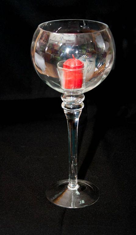 Charisma Clear Candle Holder (Medium)-0