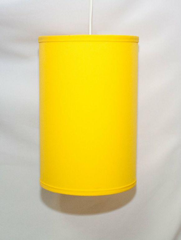 Hanging 13 Inch Sunshine Yellow Cylindrical Pendant Lamp-0