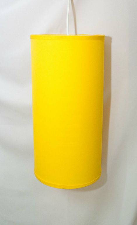 "17"" Sunshine Yellow Cylindrical Pendant Lamp"