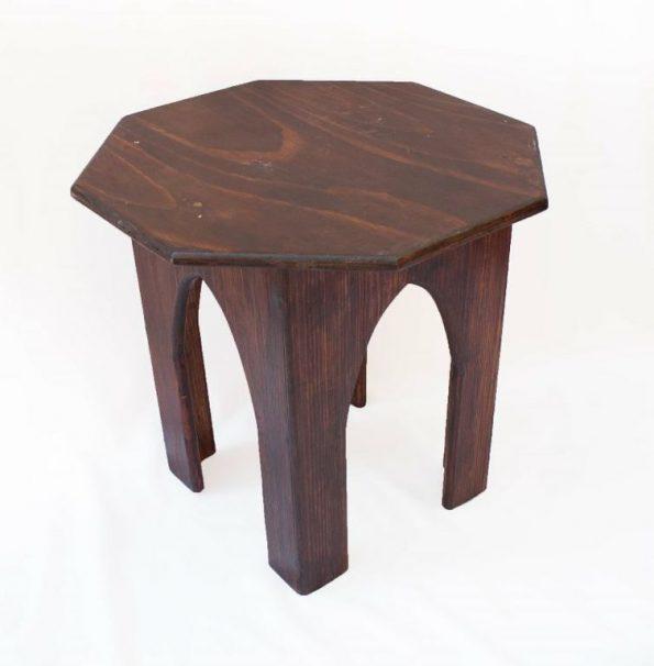 Moroccan Side Table Mahogany (Medium)-0