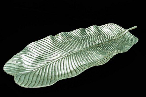 Pewter Leaf Platter-0