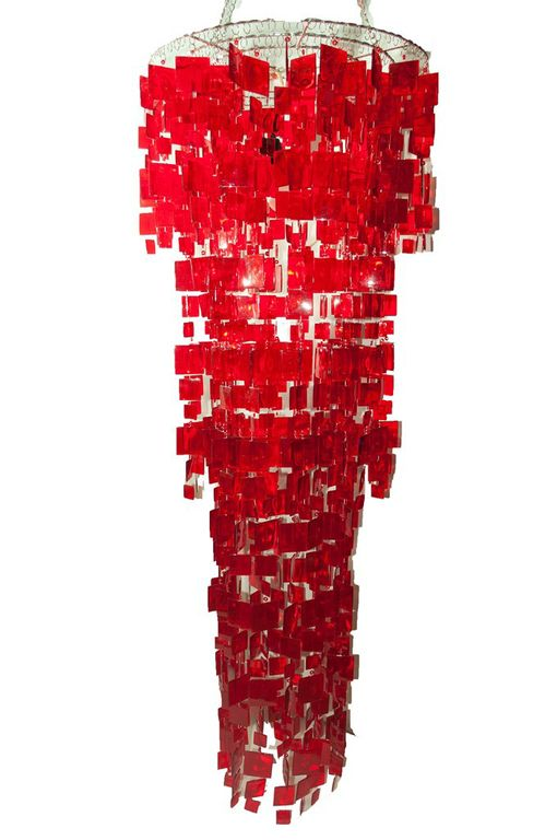 Glamorous Red Chandelier