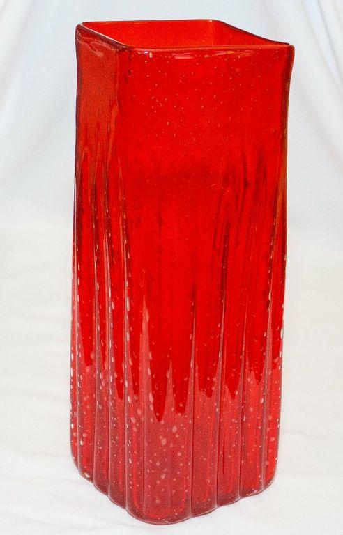 Red Rectangular Vase (Medium)-0