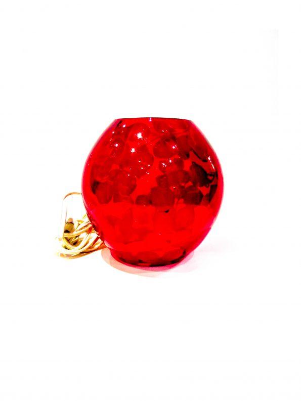 Red Floral Fish Bowl Lamp-0