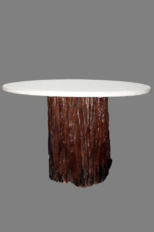Tree Trunk Base Ottoman Table-0