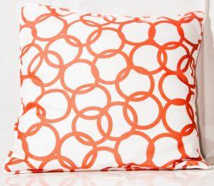Orange/White   Throw Cushions