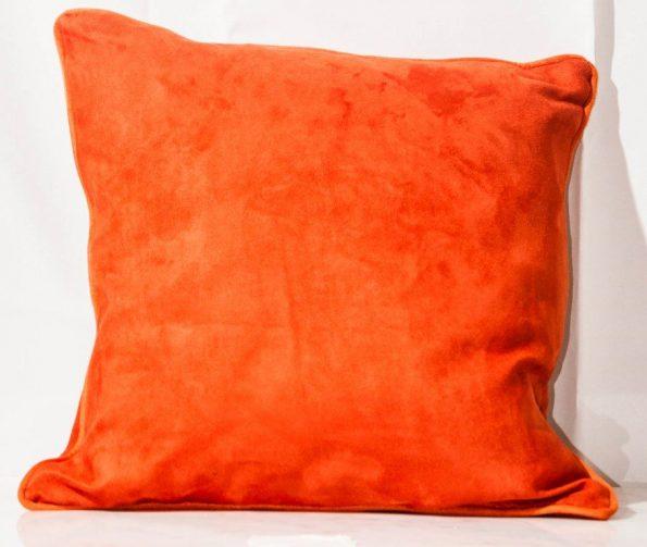 Burnt Orange Suede Throw Cushion-0