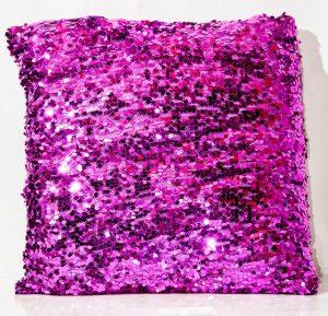 Purple Sequin Throw Cushion-0