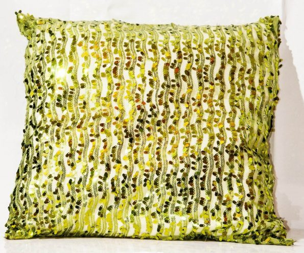Broad Leaf Print Green Cushions