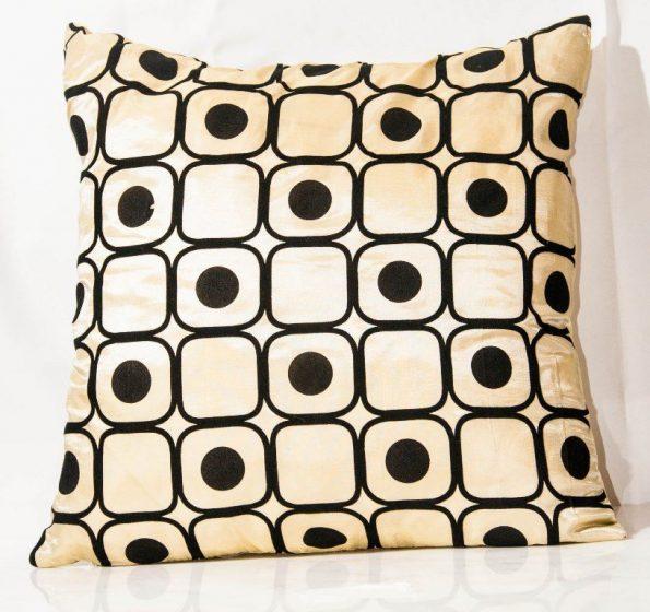 Ivory And Black Throw Cushion-0