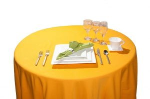 Mustard yellow 8 & 10 seater Tablecloth (Available in 4 & 6)-0