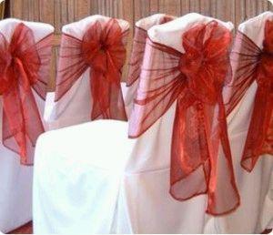 Red Sheer Tie back