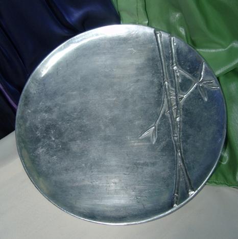 Pewter Round Platter -0