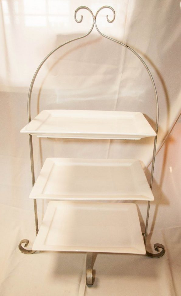 3 Tier Square Table Riser (Available in Gold)-0