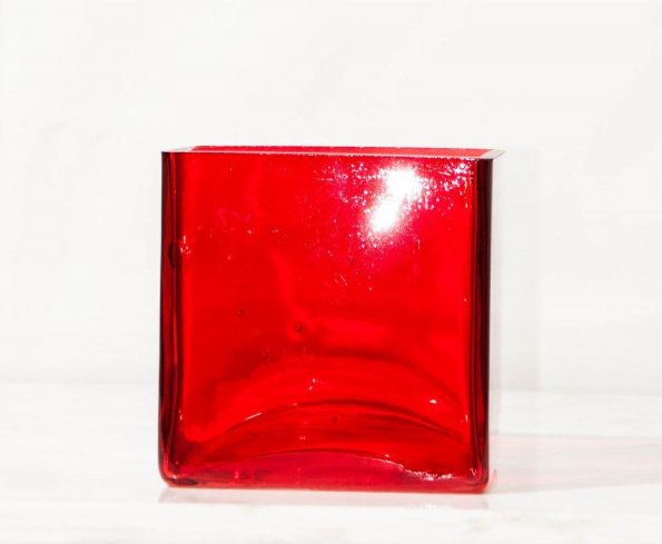 Red Square Candle Holder (Medium)-0