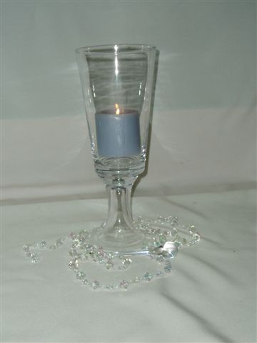 Cone Glass Candle Holder-0