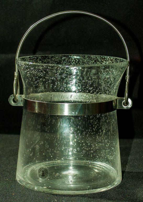 Ikea Hurricane Vase/Candle Holder With Handle Sm