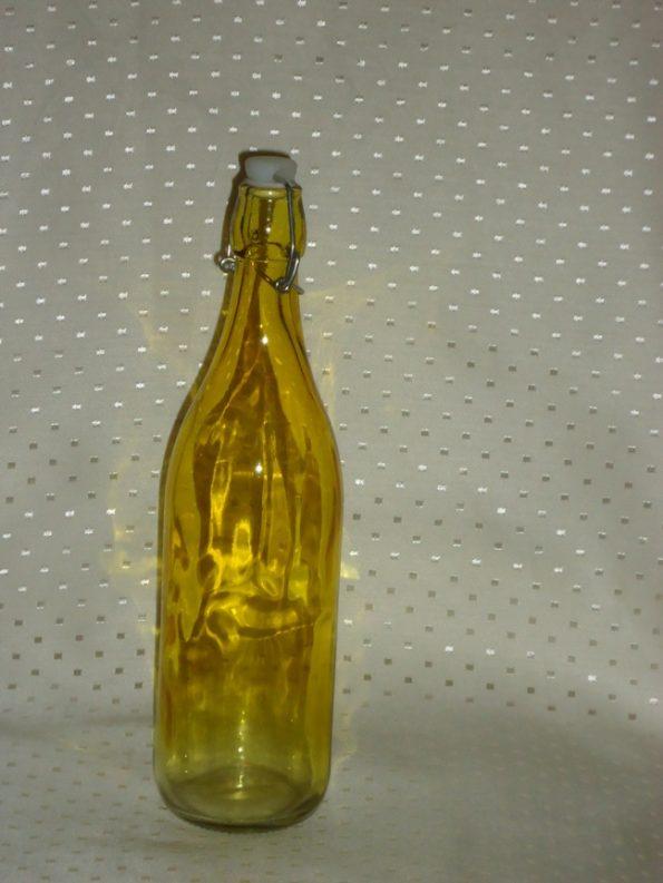 Amber Decor Bottle With Cork (Medium)-0