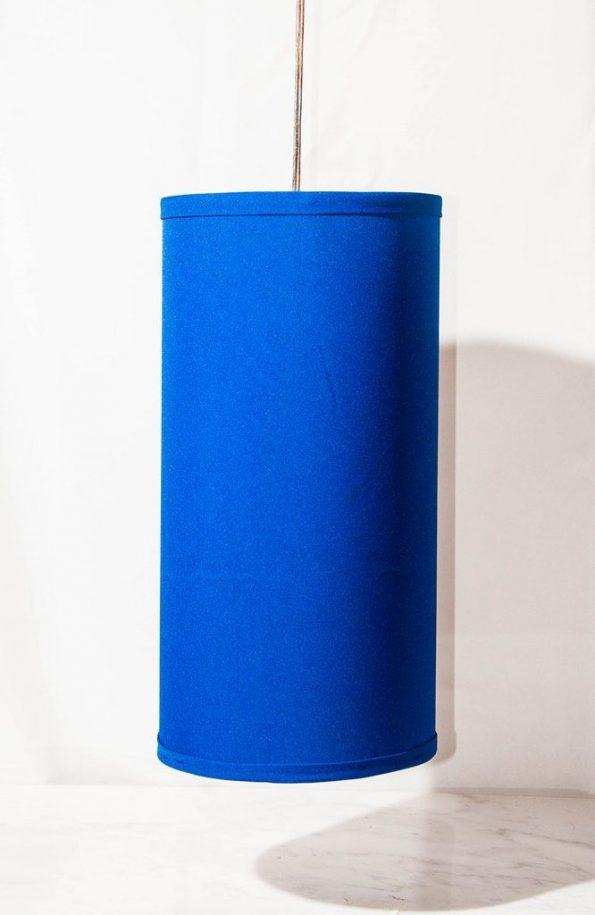 "16"" Cylindrical Royal Blue Pendant Lamp"