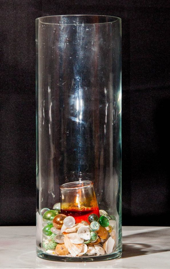 23 Inch Clear Cylindrical Vase (Large)-0