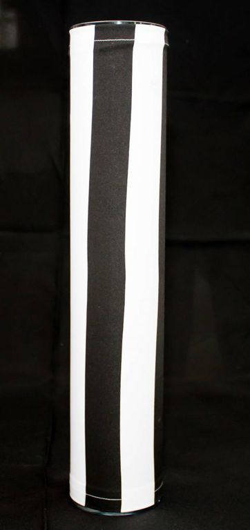 Clear Cylindrical Vase With Black & White Cover (Large)-0